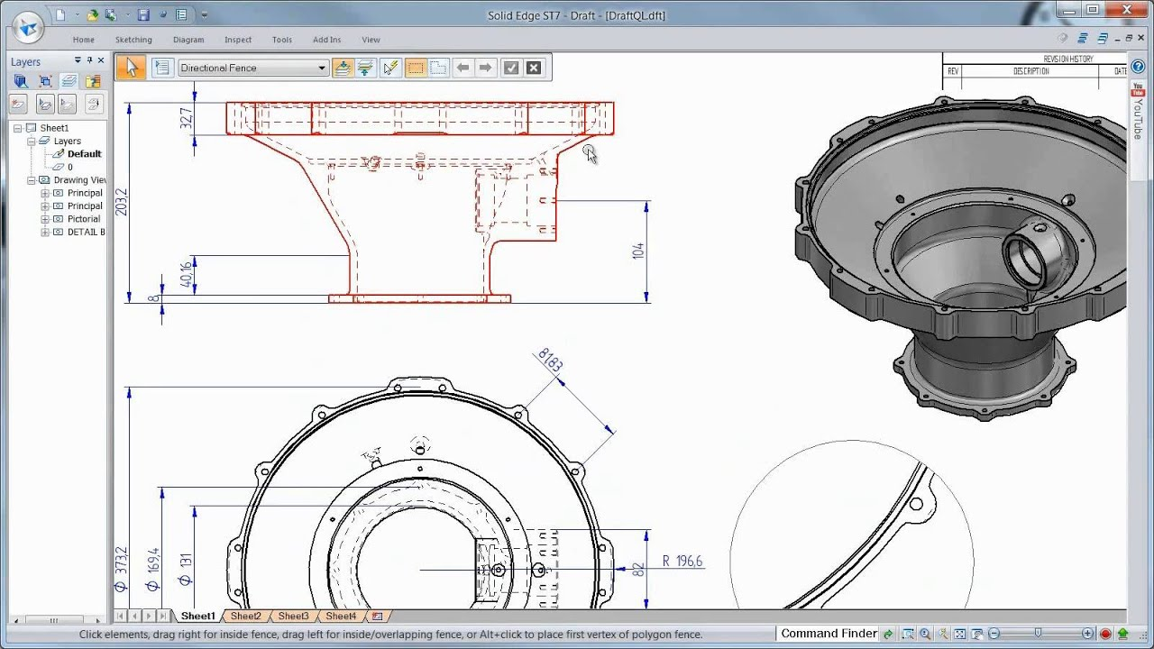 Solid Edge ST7 - Produtividade no Detalhamento - YouTube