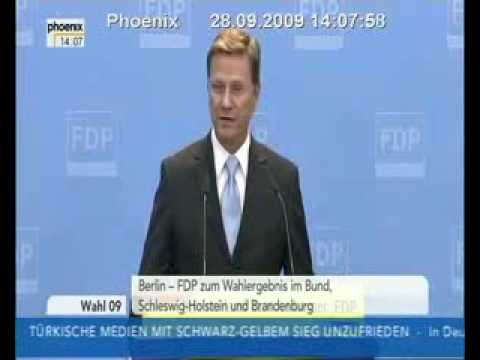 New German Minister of Foreign Affairs Westerwelle being arrogant to BBC reporter