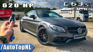 Mercedes C63 S AMG Coupe 620HP Elmerhaus REVIEW POV on AUTOBAHN by AutoTopNL