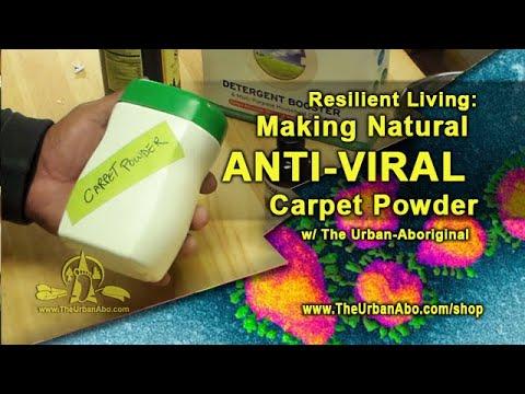 Making Natural Anti-Viral Carpet Powder W/ The Urban-Aboriginal