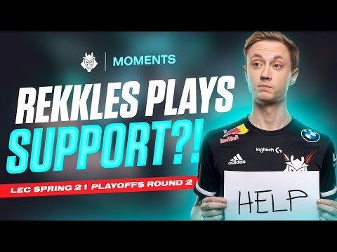 Rekkles Roleswaps To Support?! | LEC Spring 2021 Semifinals vs MAD Lions Moments