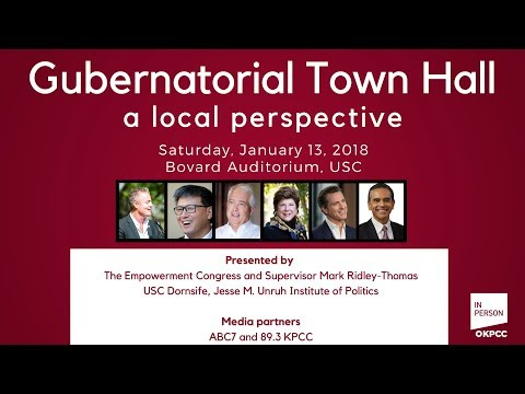 Gubernatorial town hall — a local perspective