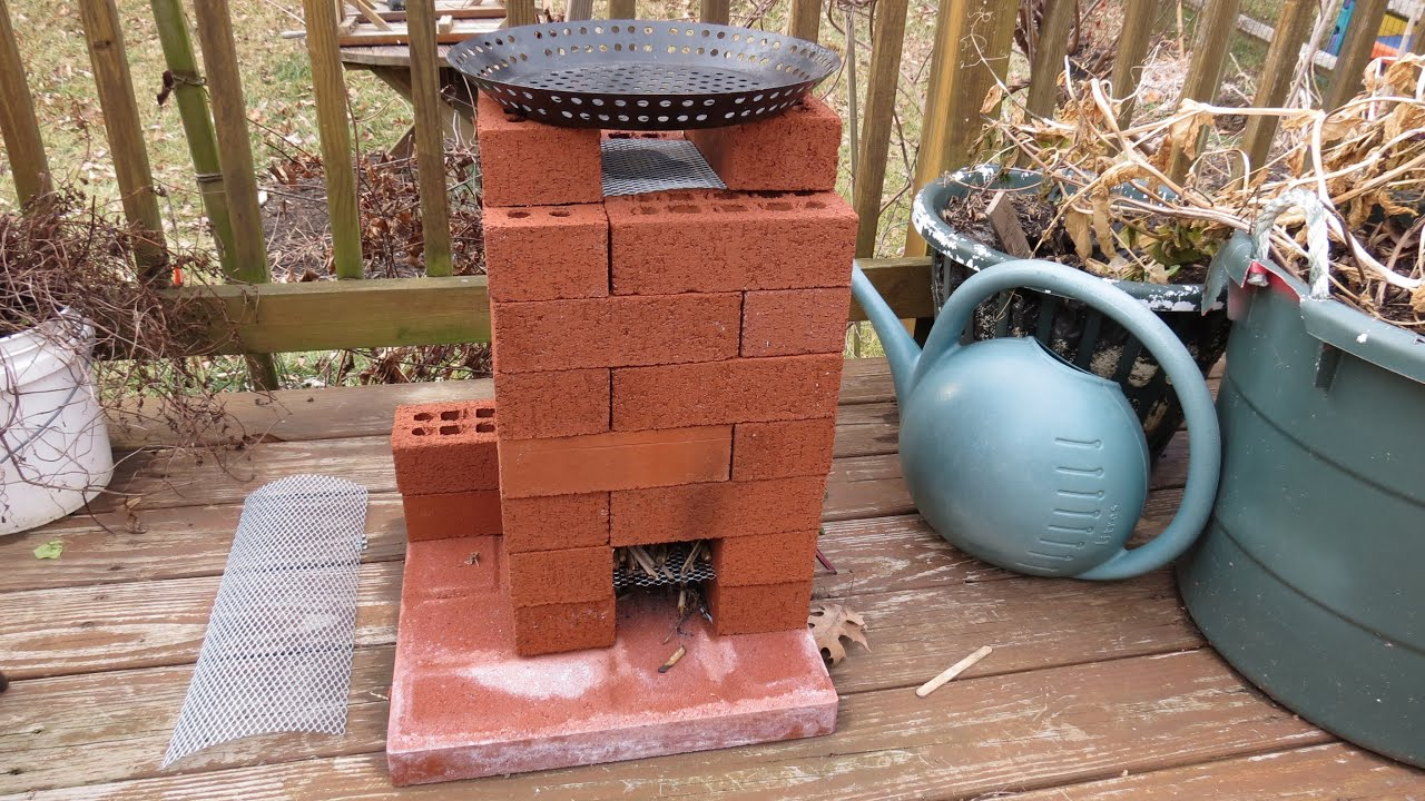 how to build a brick rocket stove for fire roasting tomatoes peppers garden vegetables trg 2015 youtube - Brick Garden 2015