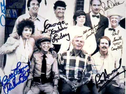 Andy Griffith  Mayberry Reunion Signed Cast Photo 1986