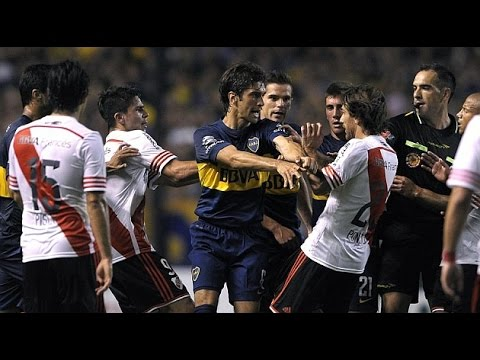 Superclasico - Boca Juniors Vs. River Plate (Fights, Fouls, Red Cards)
