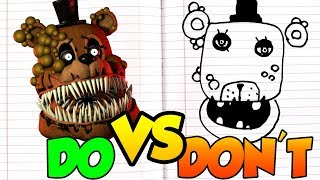 DOs & DON'Ts Drawing Five Nights At Freddy's Twisted Ones In 1 Minute CHALLENGE!