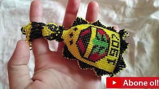 Fenerbahçe amblem li anahtarlık örme, hapishane işi Fenerbahçe logolu anahtarlık örme, Fenerbahçe