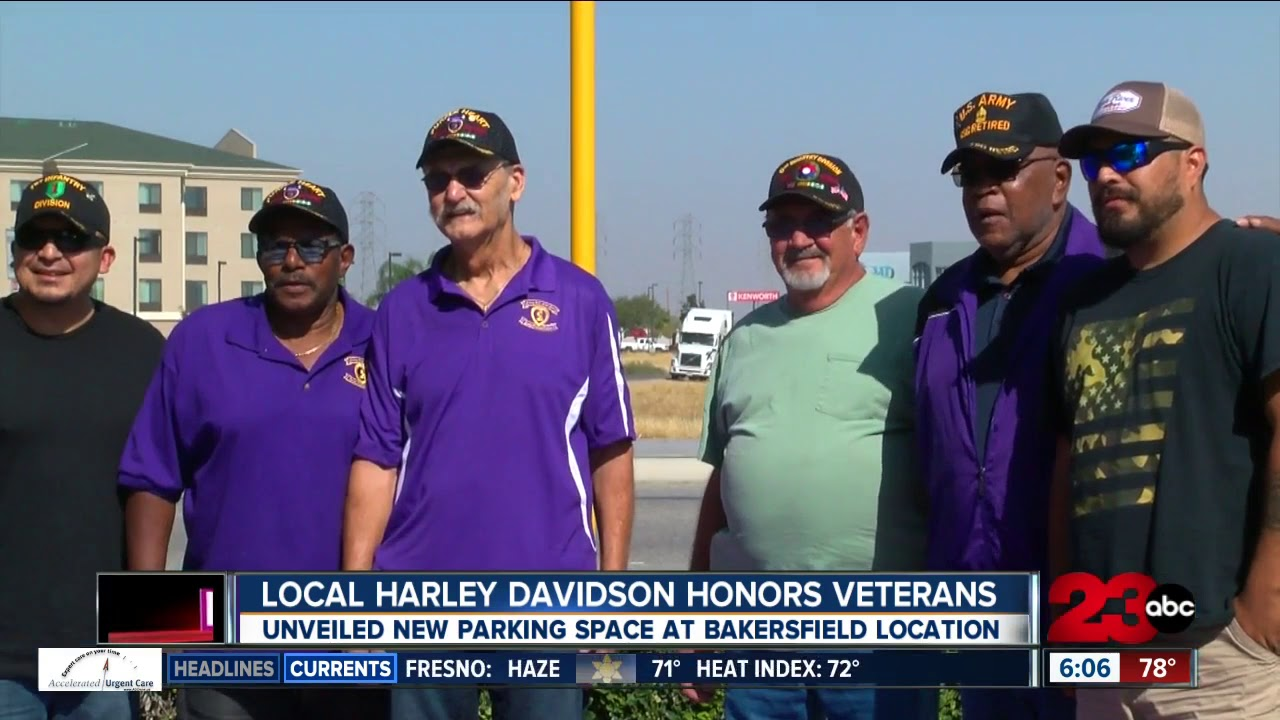 Bakersfield Harley Davidson >> Bakersfield Harley Davidson Dedicates Parking Space To Purple Heart Combat Wounded Vet