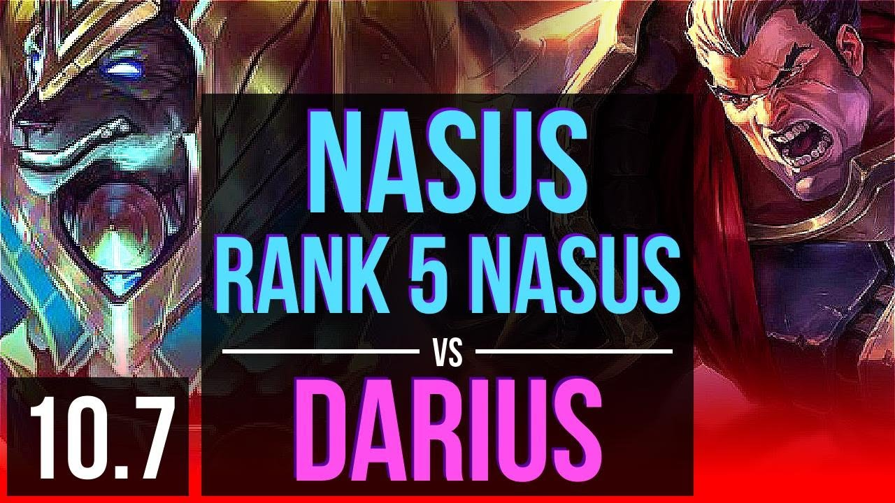 NASUS vs DARIUS (TOP) | 2.9M mastery points, Rank 5 Nasus, 2 Triple Kills | BR Grandmaster | v10.7