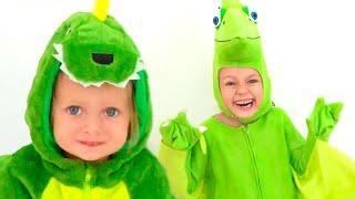 Dinosaurio querido Cancion | Canciones infantiles de Maya y Mary