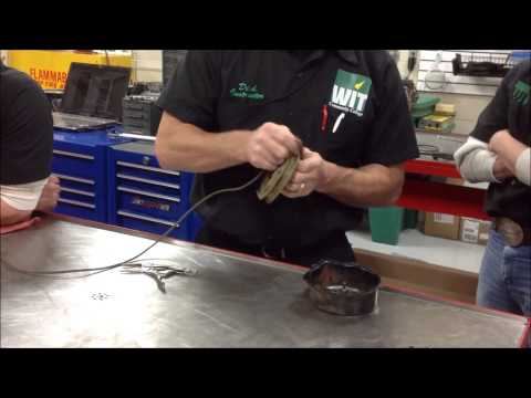 How to rewind a starter rope and recoil rebuild on small engines and atv Honda Briggs