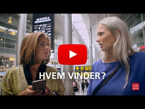 Stephania Potalivo og Emilie Lilja i Københavns Lufthavn   The Airport Battle Is On