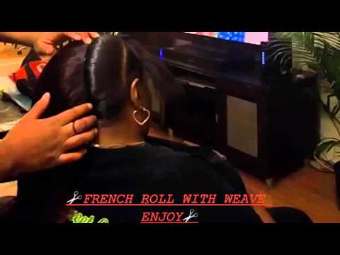 ✂FRENCH ROLL WITH WEAVE✂