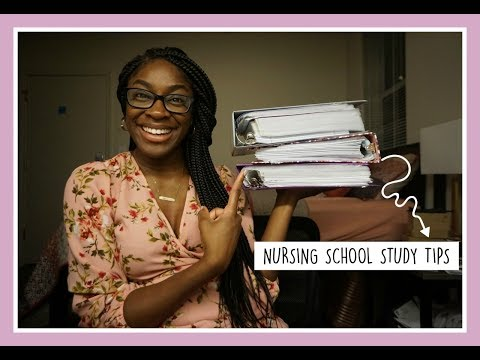 HOW TO BE SUCCESSFUL IN NURSING SCHOOL - MY STUDY TIPS | NKENNA ROSE