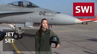 Gambar cover Switzerland's first female fighter pilot takes to the skies