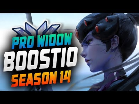 Boostio insane Widow! 44 Elims! [ OVERWATCH SEASON 14 TOP 500 ]