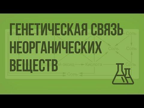 Генетическая связь между классами неорганических веществ