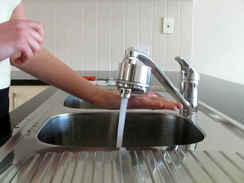 No Touch Kitchen Faucet Cabinet Islands Eco Sensor Water Saving Tap - Youtube