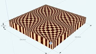 "Sketchup: Drawing A ""butterfly"" 3d End Grain Cutting Board"