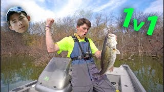 1v1 Big Bass Challenge on TRASH LAKE (APbassin Vs. Jon B)
