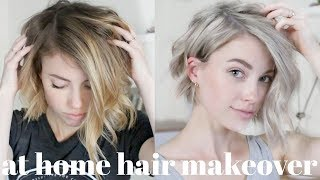 From Brassy To Platinum (kinda) | At Home Hair Transformation
