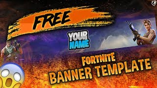 ~FREE GFX~ Fortnite Banner Template (Tutorial + Download)
