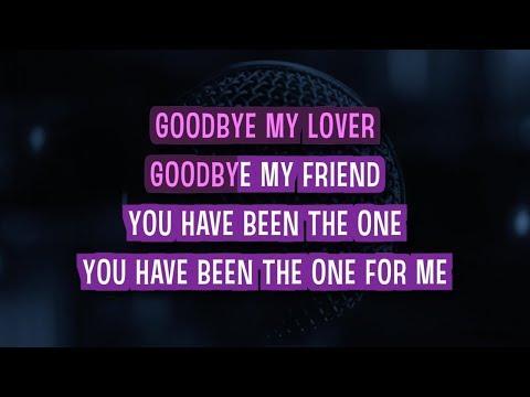 Goodbye My Lover Karaoke Version by James Blunt (Video with Lyrics)