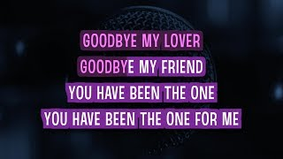 Goodbye My Lover Karaoke Version by James Blunt (Video with Lyrics)