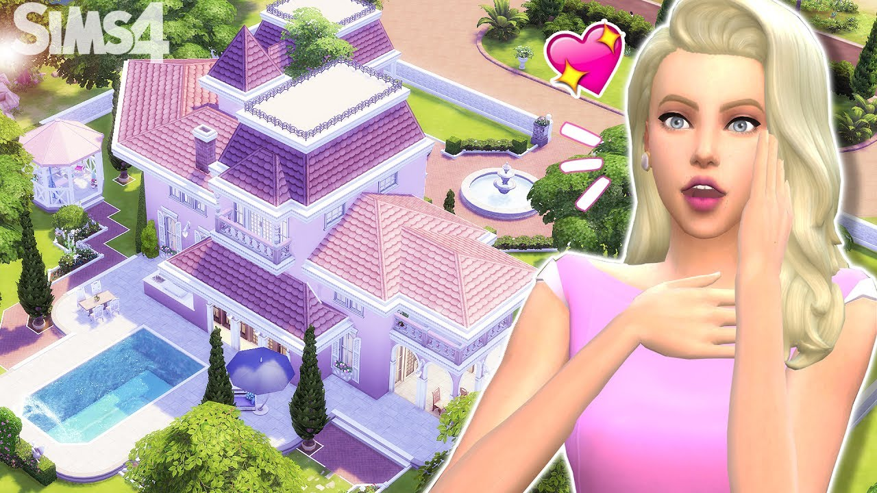Maison de barbie sims 4 youtube for Exterieur sims 4