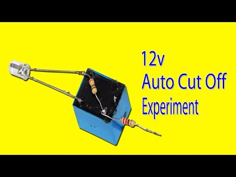 12v Auto Cut Off Circuit Experiment