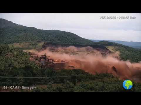 Brumadinho dam collapse footage Brazil