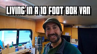 Living in a 10 Foot Box Van - My DIY Camper and How I Live on the Road