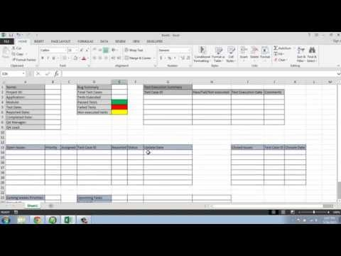 Software Testing Weekly Status Report Template