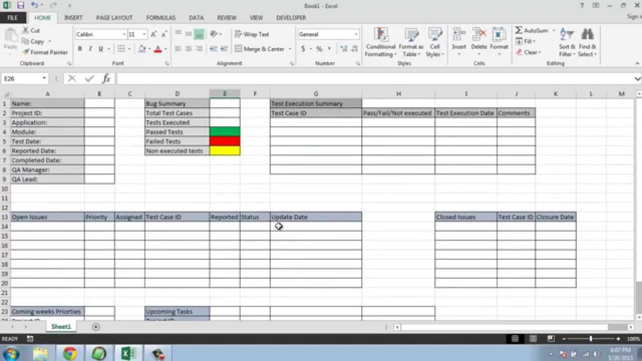 Software Testing Weekly Status Report Template YouTube – Bug Report Template