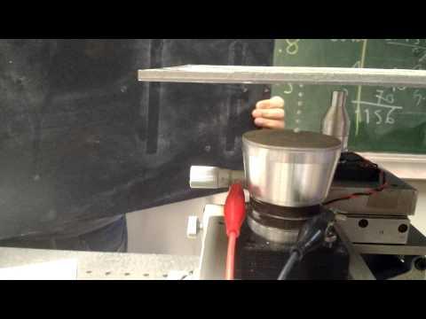 Acoustic levitation experiment 2