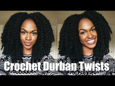 Crochet Braids in under an Hour! Durban Twists Tutorial