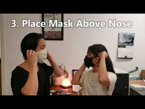 How To Wear Your Organic Hemp Cotton Face Mask