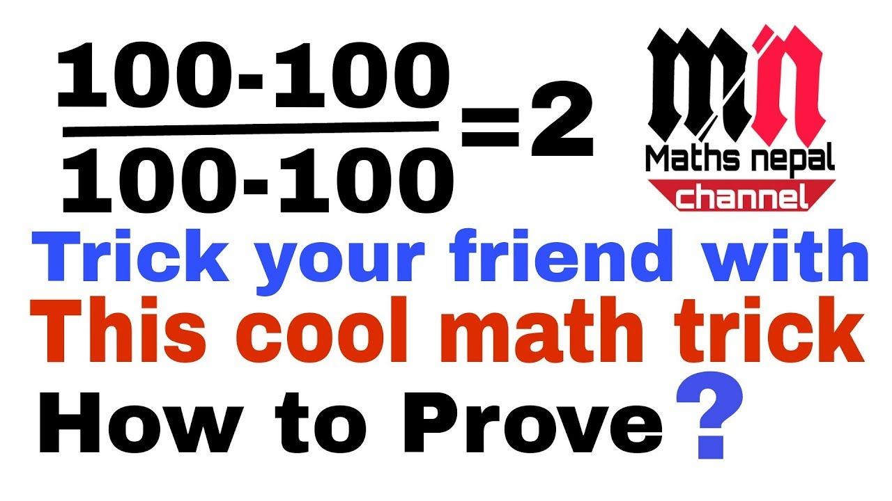Math tec.Trick your friend with cool math trick Math skill and ...