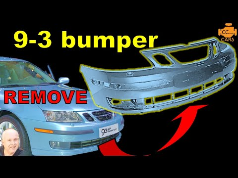 Saab 9-3 Front Bumper Removal | 03-07 Model years | EASY DIY