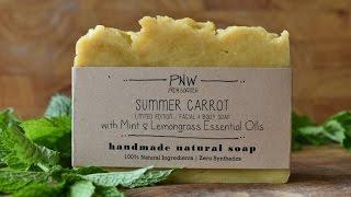 Making Summer Carrot All-Natural Handmade Soap - Hot Process