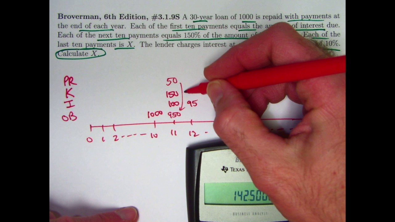 actuarial exam 2  fm prep  find ultimate loan payment when