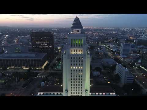 Los Angeles via Drone - City Hall