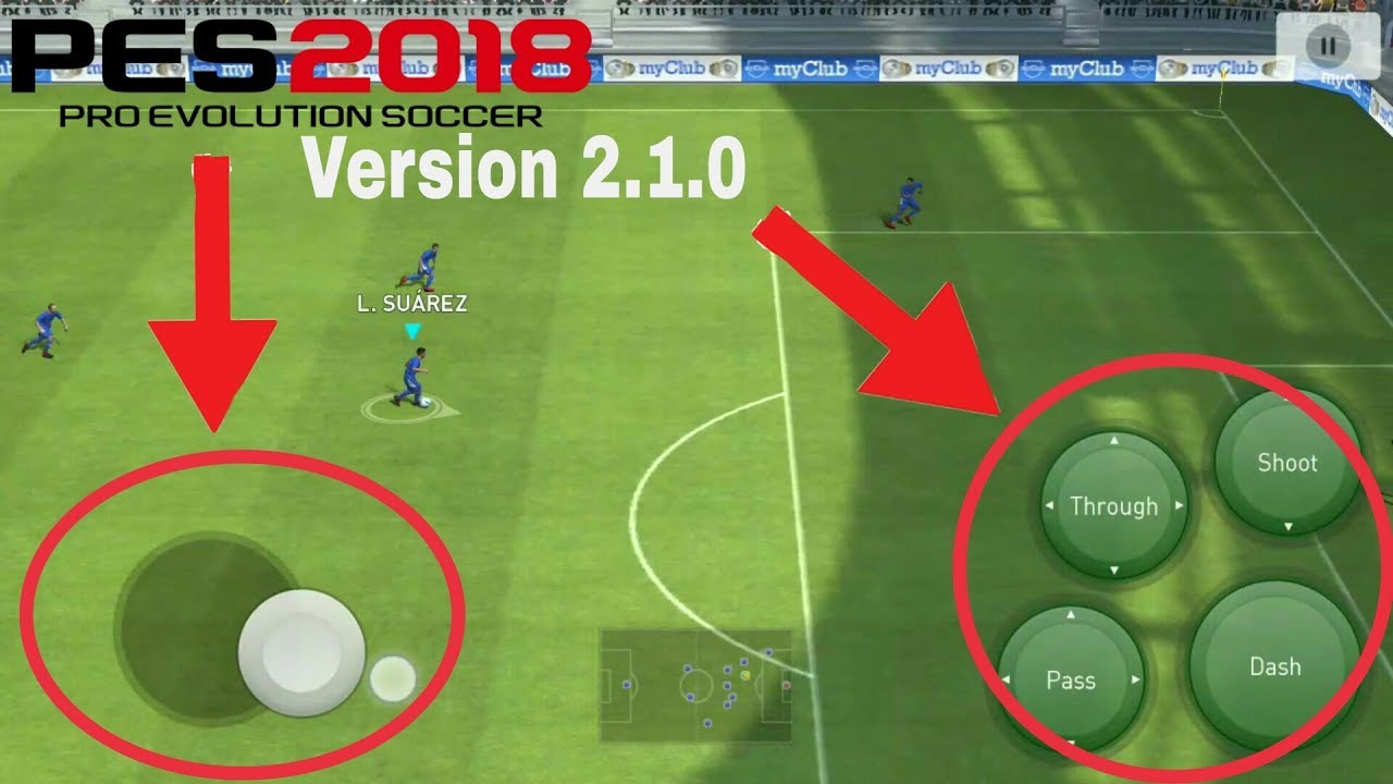 New settings - Control Button pes 2018 mobile