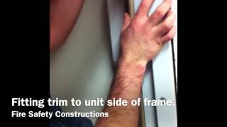 Fire door and frame installation