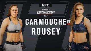 EA Sports UFC 3 - Liz Carmouche vs Ronda Rousey - Gameplay (HD) [1080p60FPS]