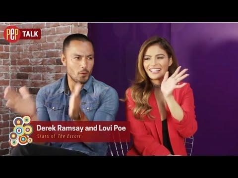 Derek Ramsay | Lovi Poe | The Escort | PEP TALK Full Interview