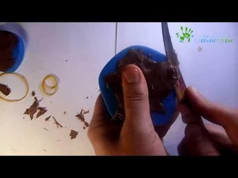 Приготовление фигурок из шоколада в силиконовых молдах