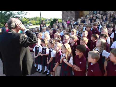 Archbishop Lori Visits Our Lady of Grace School on the First Day of the School Year