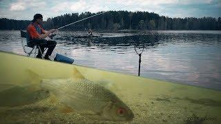 Рыбалка на Фидер! Подводная съемка! Ловля плотвы