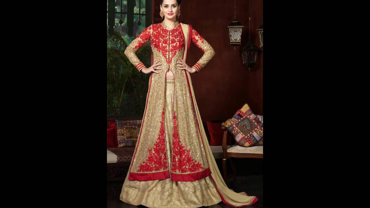designer indian suits for women - YouTube